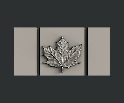 3d STL models for CNC, Artcam, Aspire, relief  Flag and Clock Canada 4