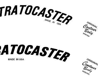Two 70s Style Waterslide Headstock Decals 2