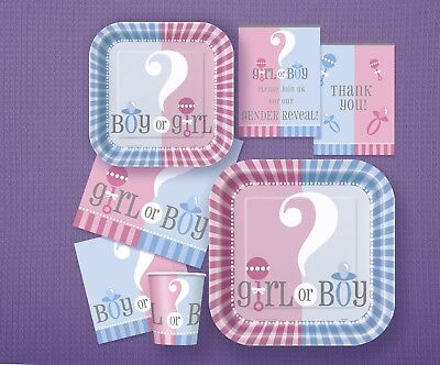 Gender Reveal party / baby shower coordinated range, tableware and decorations 2