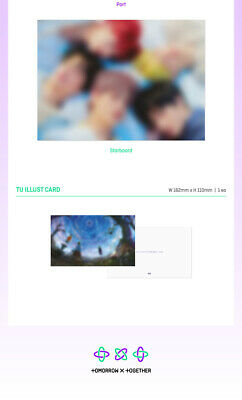 TXT THE DREAM CHAPTER:ETERNITY Album CD+POSTER+Photo Book+Sticker+3 Card SEALED 5