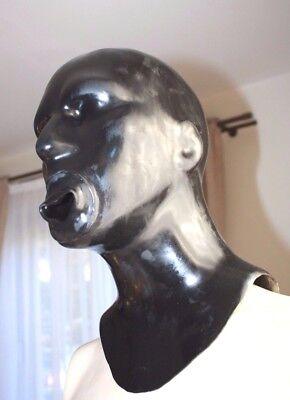 Latexmaske Mundhülle, Reißverschluß, Zip, Latex-Maske, rubber mask, MH-A-0,7,R