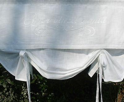 Raff Gardine JOY SAND Rollo 140x120 Bestickt LillaBelle Shabby Landhaus