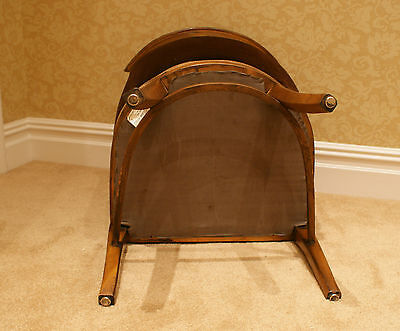 2 Armchairs/Dining Chairs Carved Solid Mahogany? Wood 6