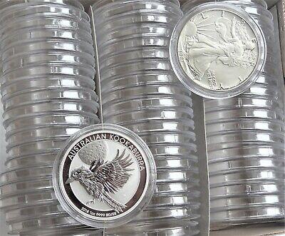 Plastic Round Coin Boxes Capsules Cases 41mm 10,20,50 or 100 capsules 1oz coins 4