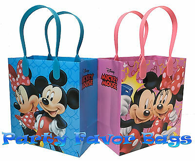 1 Of 4FREE Shipping 24 Pcs Disney Mickey Minnie Mouse Party Favor Bags Treat Birthday Gift Sack Bag