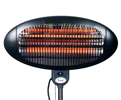 WestWood Standing Patio Heater – Outdoor Garden Electric Heating Quartz - 2KW 8