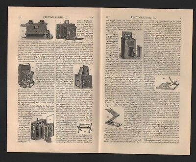 Lithografie 1906: Fotografie Photographie I/II. fotografische Verfahren Aufnahme 4