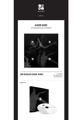 BTS [WINGS] 2nd Album CD+POSTER+96p Photo Book+1p Photo Card K-POP SEALED 4