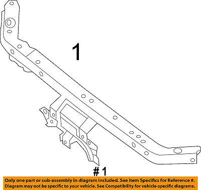 Genuine Nissan 62525-4Z030 Radiator Support Reinforcement
