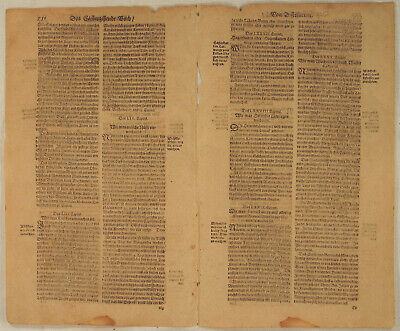 KORALLEN Öl  Apotheker Medizin Original Doppelblatt 1620 Arznei Heilmittel Arzt 2