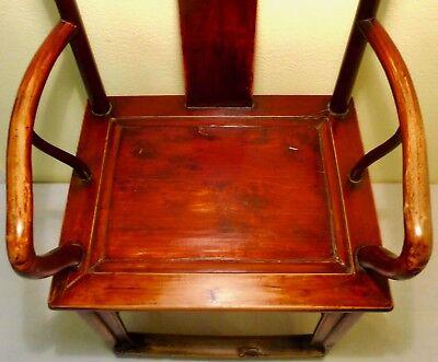 Antique Chinese Ming Arm Chair (2775), Cypress/Elm, Circa 1800-1849 6