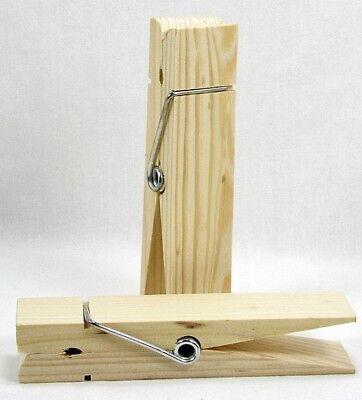 VANVENE 6 Jumbo Wood Clothespins Set of 6 Big Clothes Pins Set of 6