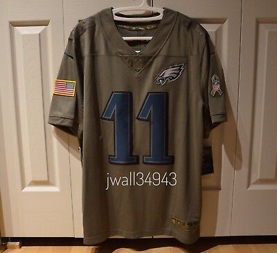 buy popular 4fd26 3c41c CARSON WENTZ PHILADELPHIA Eagles Nike NFL Salute to Service Jersey Mens XXL  2XL