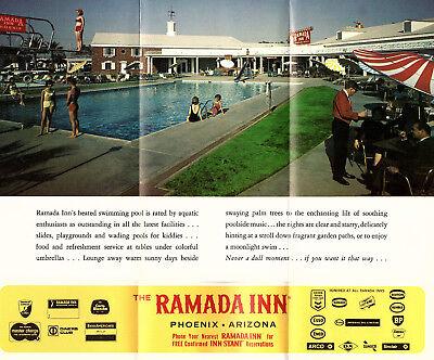Ramada Inn Phoenix Arizona Vintage Travel Brochure Color Photos Locator Map 2
