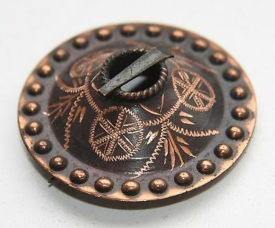 Antique Vintage Ethnic Brass Brooch Pin Sakta Fibula (NOW02) 4