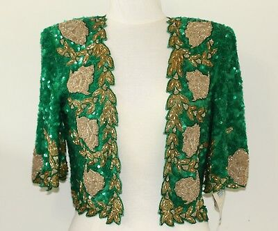 Jasdee Vintage Bolero Jacket HandWork Bead Sequins & Zari Emroidery On Silk 5011 4