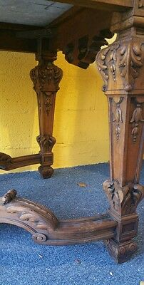 French regency style center table highly carved marble monumental size museum 4
