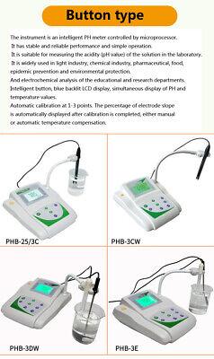 Benchtop pH Meter Lab mV Tester Digital Acidity Meter w/Temperature Compensation 4