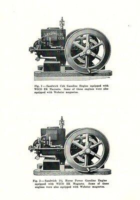 New Idea Sandwich Cub and 1 1/2 HP Gasoline Engine Book Motor Flywheel 2