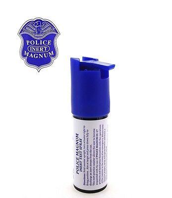 Police Magnum Pepper Spray 2 Pack 1/2oz Keychain B Holster Case w/Practice Spray