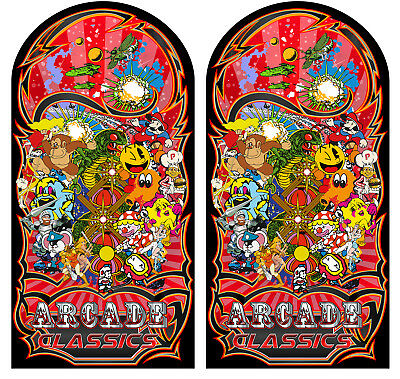 Mame Multicade Classics Side Art Arcade Cabinet Graphics Decals Stickers Set 3