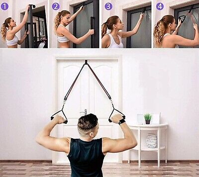 Resistance bands Set Workout with Handles Heavy Tube Exercise Fitness Gym 11PCs 7