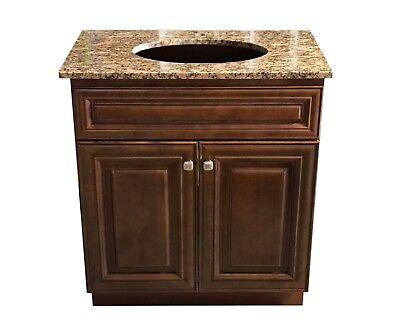 "New Maple Walnut Single Bathroom Vanity Base Cabinet 36/"" W x 21/"" D x 32/""H Left"