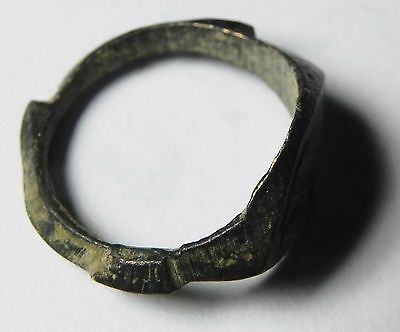 Zurqieh -Aa7138-  Holy Land. Byzantine Or Roman Bronze Ring. 300 - 600 A.d 2