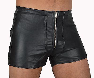 533 aus lammnapa PO frei ledershorts Gay Kurze Lederhose,leder shorts leather 4
