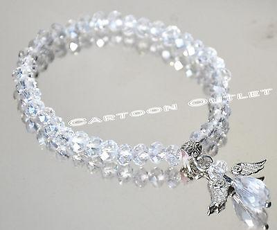 12 x baptism favors bracelet bautizo recuerdos quinceanera crystal