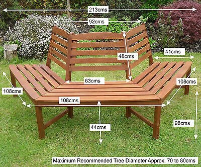Fantastic Henley 180 Degree Half Tree Seat Bench Quality Hardwood Squirreltailoven Fun Painted Chair Ideas Images Squirreltailovenorg