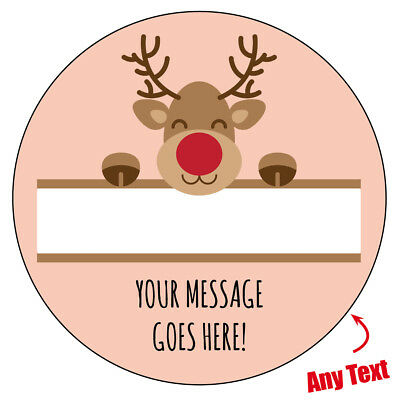 40 Personalised Christmas Stickers gift tags xmas parcels presents santa labels,