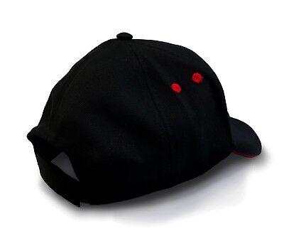 TopGun Red Contrast Embroidered Pilot Baseball Cap - Top Gun Logo Licenced Hat 2