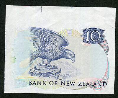 Extremely Rare NEW ZEALAND Reserve Bank Portion of Specimen Ten Dollars cf.P.17 2