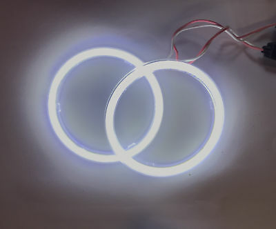 COB LED Headlight Rings Halo Angel Eyes Xenon Universal High Power Bright 4