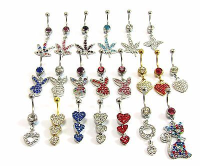cute cheap official site fair price BELLY BARS DROP Body Piercing Belly Button Ring Crystal ...
