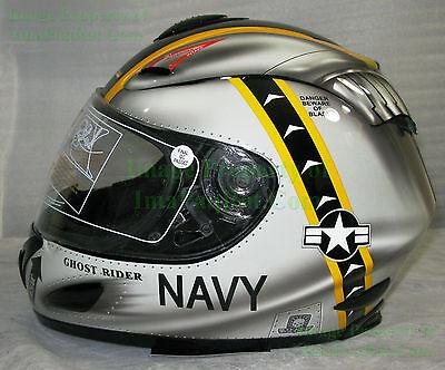 Akuma ghost rider motorcycle helmet