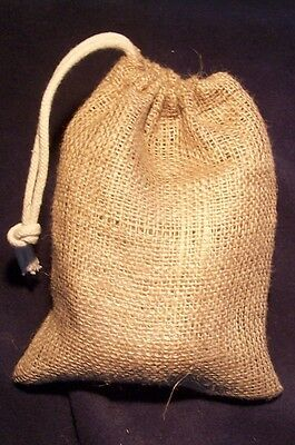 """""""d!e Powder"""" Small Natural Jute Dispensing Bag, For Use With Diatomaceous Earth 8"""