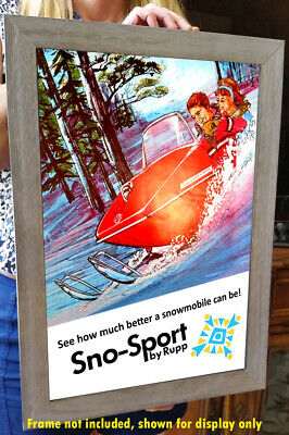 Rupp Snowmobile Vintage 1968 Advertising Poster