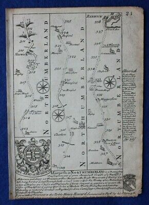 Original antique map from 'Britannia Depicta', MIDDLESEX, LONDON, Bowen, c.1724 2
