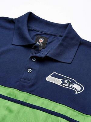 FOCO NFL Mens Football Team Logo Cotton Stripe Polo Shirt