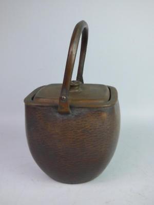 Antique Japanese Hammered Copper Teapot Lot 981