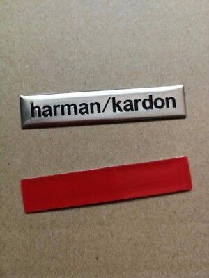 4 x LOGO 3D INSIGNIA PEGATINA Adhesivo  Aluminio Harman/Kardon  para Altavoz 2