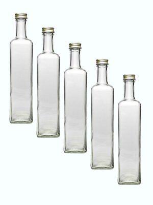 12 leere Glasflaschen Flaschen Maraska 250ml & ETIKETTEN zum Beschriften Gold 2