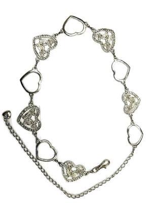Sparking Girls Women's Heart Butterfly Waist Chain Belt Adjustable 108cm Long 2