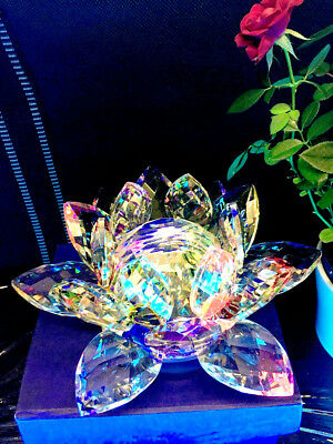 Large Multi Crystal Lotus Flower Ornament With Gift Box  Crystocraft Home Decor 2
