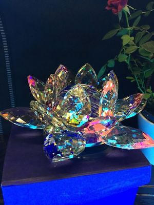 Large Multi Crystal Lotus Flower Ornament With Gift Box  Crystocraft Home Decor 8