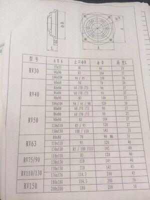 NMRV063 Worm Gear Speed Reducer NEMA52 Ratio 10 15 20 25 30 40 50 60 80 100:1 6