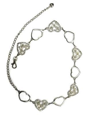 Sparking Girls Women's Heart Butterfly Waist Chain Belt Adjustable 108cm Long 3