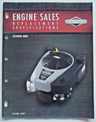 Briggs & Stratton Dealer Engine Sales Replacement Specifications MS-5568-10/09 2